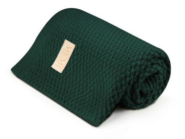 Merinoull Babyteppe - MEMI -Premium collection - Flaskegrønn