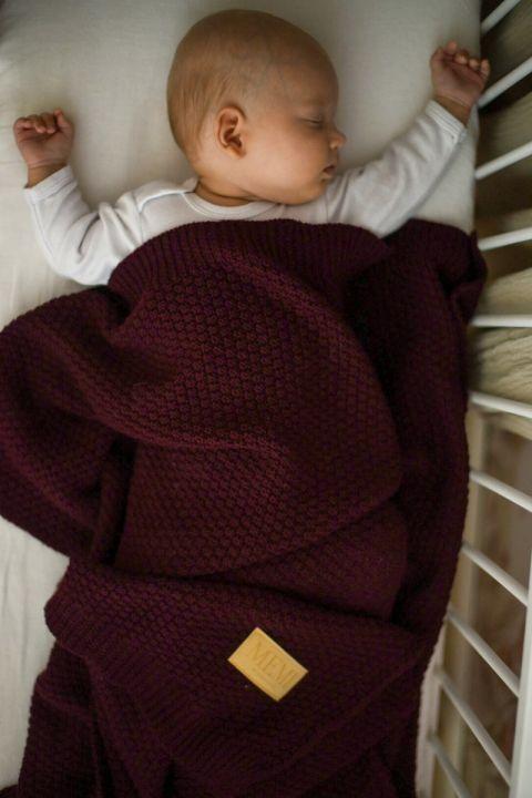 Merinoull Babyteppe - MEMI -Premium collection - Burgunder