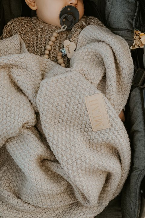 Merinoull Babyteppe - MEMI -Premium collection - Varm beige