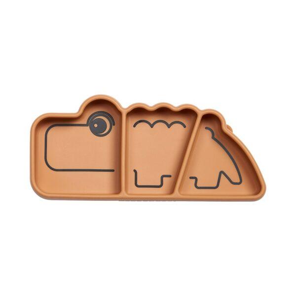 Snacktallerken - Stick & Stay - Croco - Done by deer - Mustard