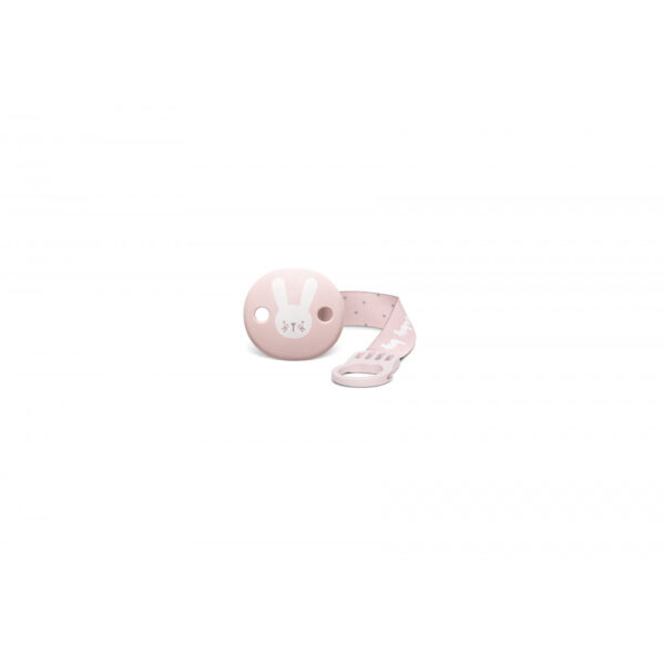 306633 soother clip with ribbon pink 1
