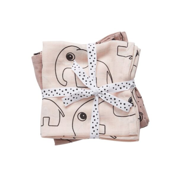 2-pk Swaddle - 120x120 - Contour - Done By Deer - Pudderrosa