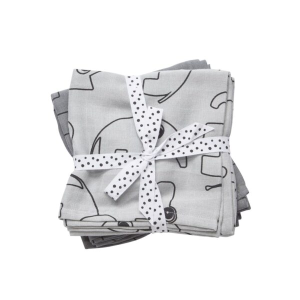 2-pk Swaddle - 120x120 - Contour - Done By Deer - Grå