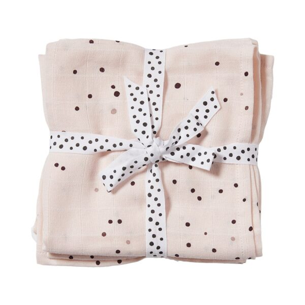 2-pk Dreamy Dots Swaddle - 120x120 - Done By Deer - Pudderrosa
