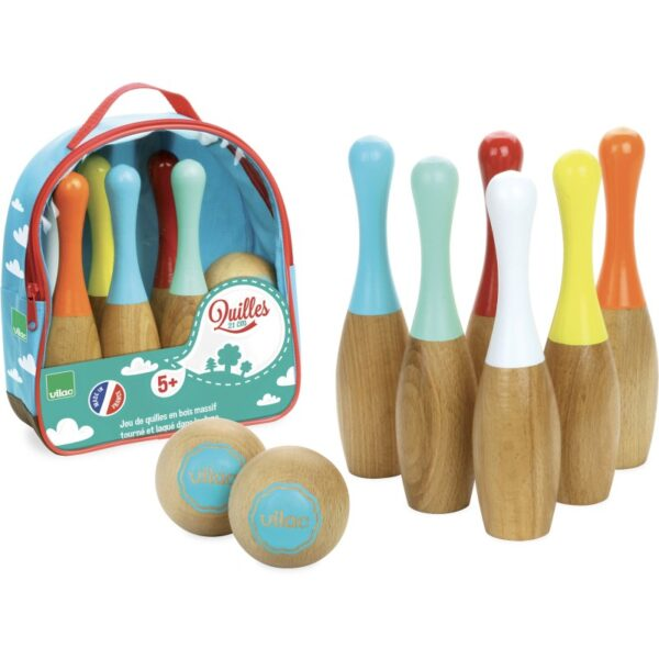 6 quilles bowling bicolores 2