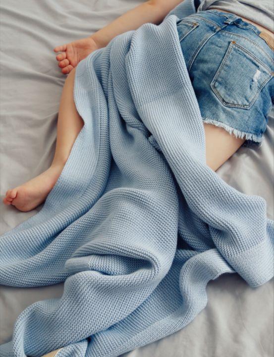 Babyteppe - Bambus&Bomull - MEMI - Baby Blue