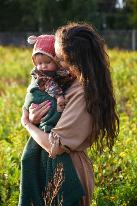 Babyteppe - Bambus&Bomull - MEMI - Bottle Green