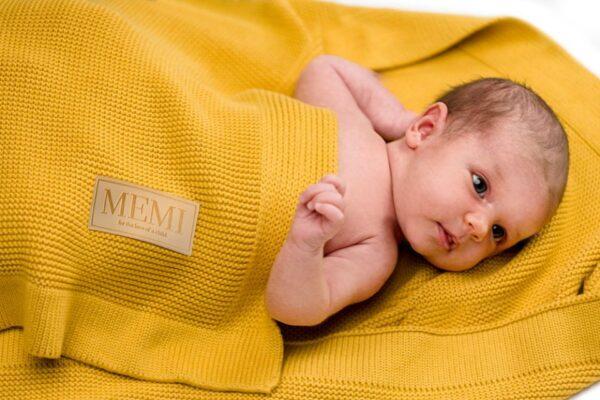 Babyteppe - Bambus&Bomull - MEMI - Honey