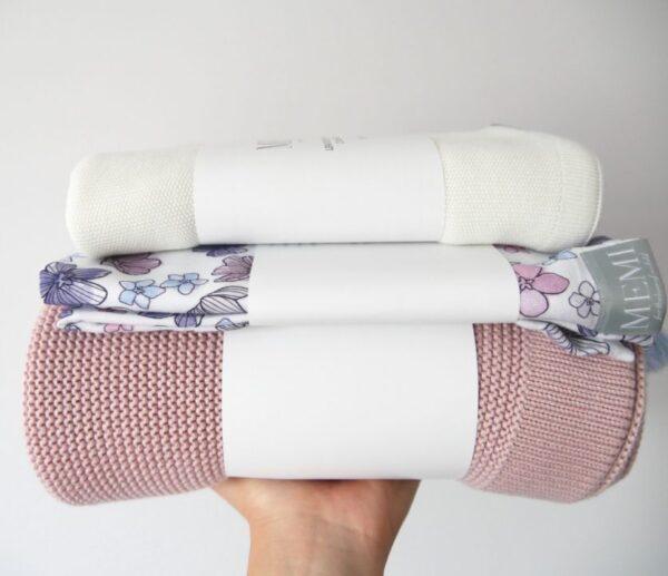 Babyteppe - Bambus&Bomull - MEMI - Powder Pink