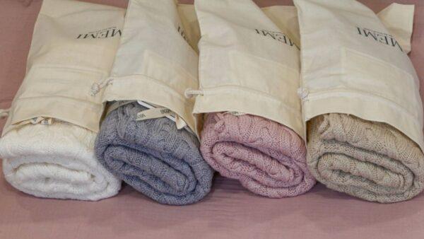Braided 100 natural Merino wool blanket cream premium collecion16 1