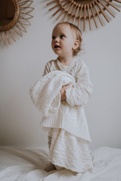Memi - Merinoull Babyteppe - Premium collection - Offwhite