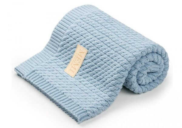 Babyteppe – Vevd pledd - MEMI - Babyblå