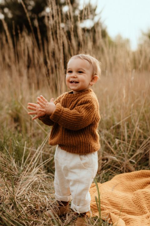 Babyteppe – Vevd pledd - MEMI- Sennep
