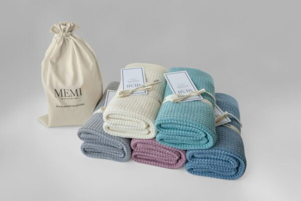 Eucalyptus & Bomull Babyteppe – Eco collection – MEMI – Sølv
