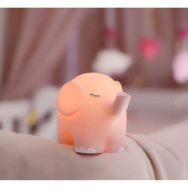 Nattlampa elefant rosa2