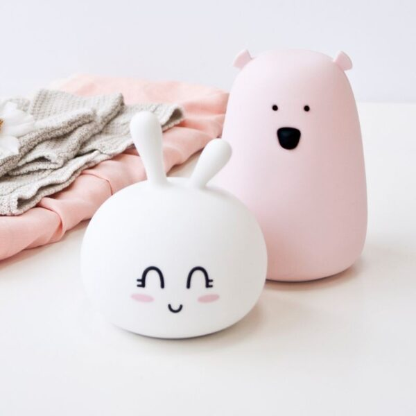 Kanin Silikonlampe - Sweet - Rabbit & Friends - Hvit