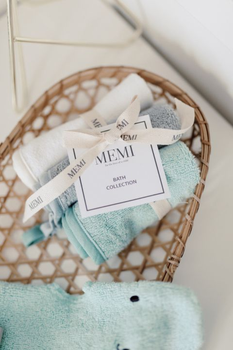 bambusowa myjka dusty mint memi bath collection