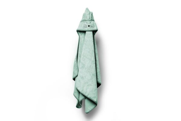 Bamboo stor håndkle - med kattehete - MEMI - Mint