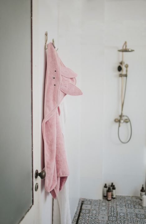 Bamboo håndkle - med kaninhete - MEMI - Rosa