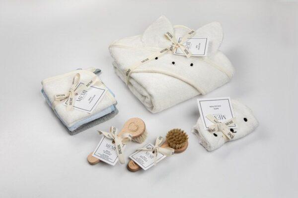 Bamboo håndkle - med kaninhete - MEMI