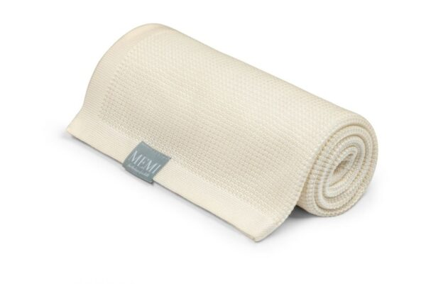 Memi - Light Eucalyptus Blanket 80x100 ecru - eco collection