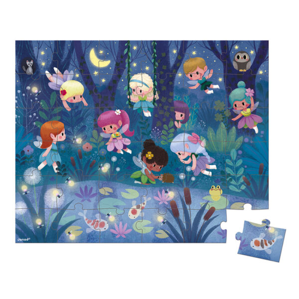 puzzle fairies and waterlilies 1