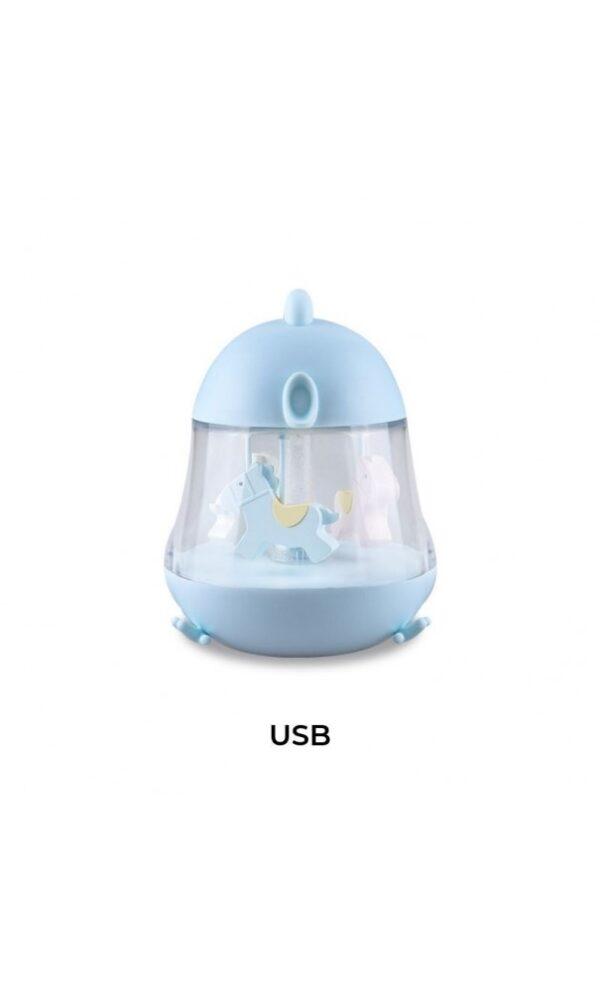 Lampe Karusell m/musikk - Sweet - Rabbit & Friends - Blå