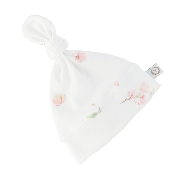Nyfødt baby lue - økologisk bomull - Yosoy - Japanese FLowers