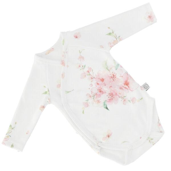 Nyfødt Body - økologisk bomull - Japanese Flowers
