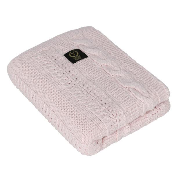 Babyteppe – Strikket pledd – Yosoy – Dreamy - Powder pink