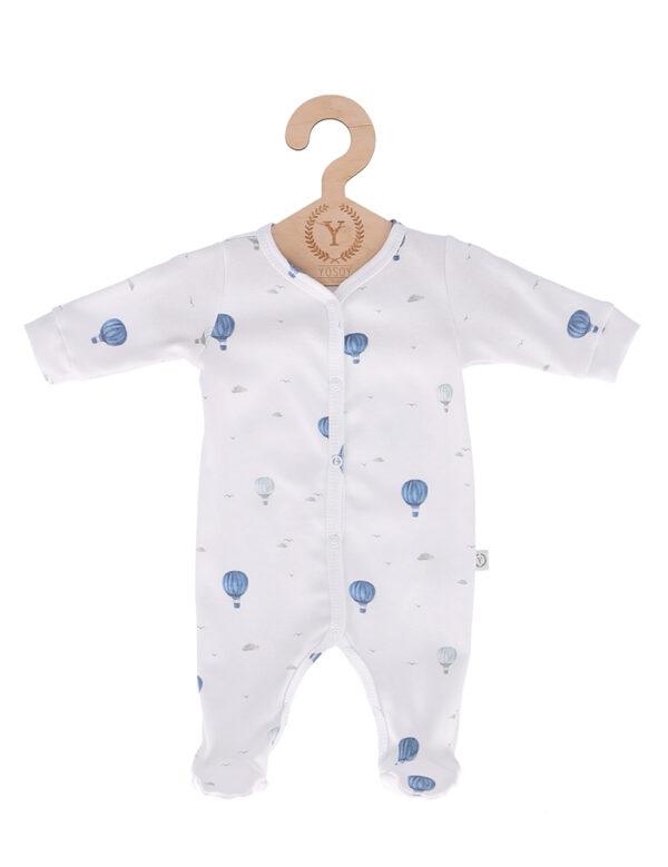 Pyjamas med fot - Heldress - økologisk bomull - Balloons