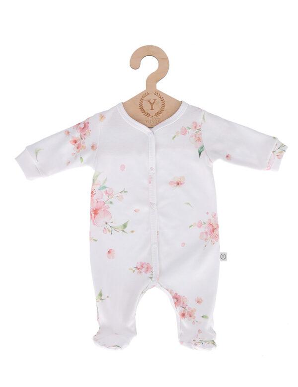 Pyjamas med fot - Heldress - økologisk bomull - Japanese Flowers