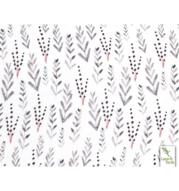 Bamboo Swaddle - 75 x 100 - Lagarto Verde - Kvister