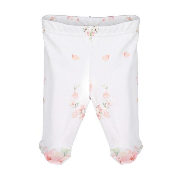 Leggings med fot - økologisk bomull - Japanese Flowers