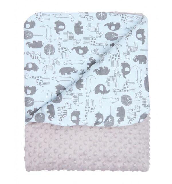 Babyteppe - Økologisk bomull & Minky - 74 x 100 - Nini