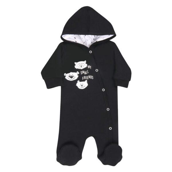 Fôret babydress med føtter – økologisk bomull – Nini